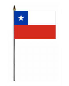 Chile Country Hand Flag - Small.